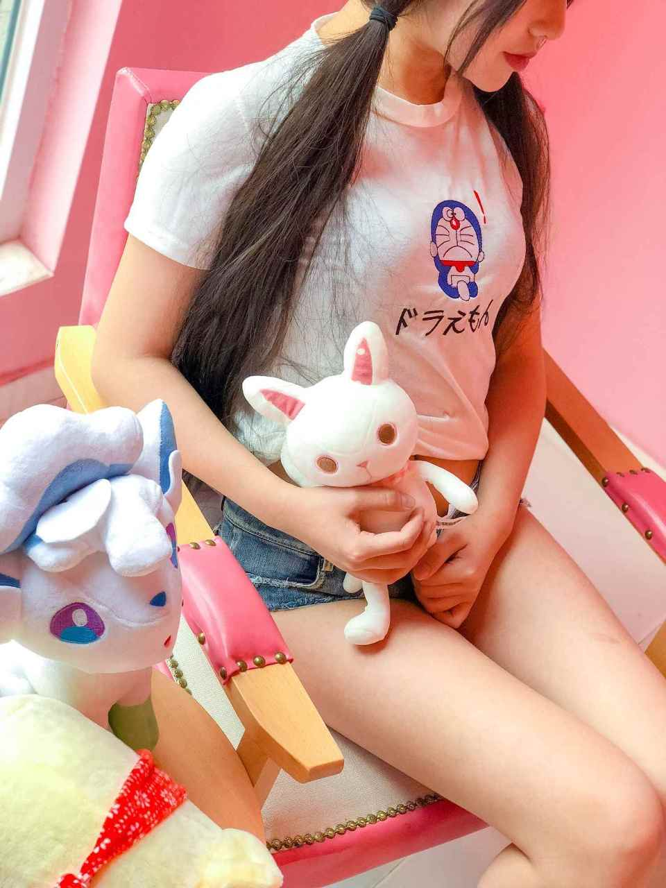 It's your cat fairy-pink girl in front of the window 1-Sexy girl-(42P)