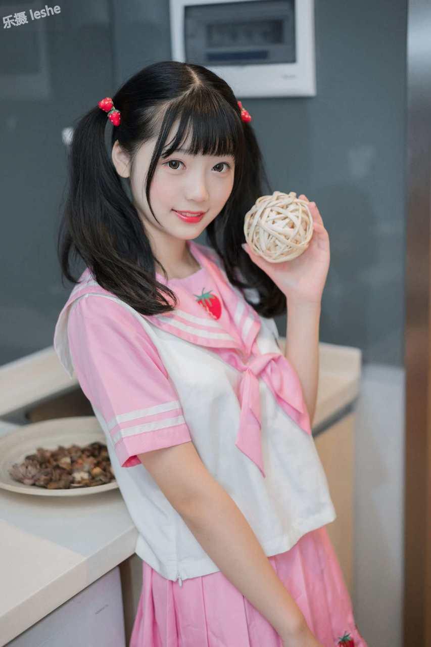 Wind Field 0113-Loli girl in pink strawberry suit-(45P)